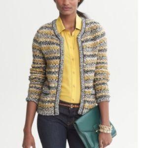 Banana Republic Wool Blend Cardigan Striped M